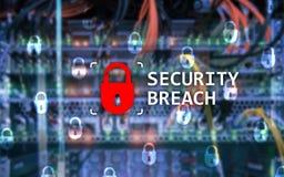 Naruszenia bezpieczeństwa wykrycie, Cyber ochrona Ewidencyjna prywatność obraz stock
