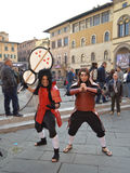 Naruto characters at Lucca Comics and Games 2014 Royalty Free Stock Images