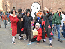 Naruto characters at Lucca Comics and Games 2014 Royalty Free Stock Image