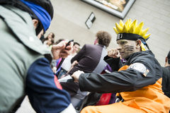 Naruto cosplayer Royalty Free Stock Photography