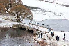 Narva Εσθονία Άνθρωποι στο νησί Joaoru Στοκ εικόνες με δικαίωμα ελεύθερης χρήσης