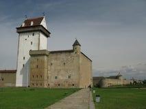 Narva castle Estonia Ivangorod Russia Royalty Free Stock Photos