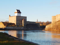 Narva castle in Estonia Royalty Free Stock Photography