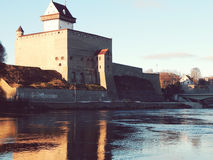 Narva castle in Estonia Royalty Free Stock Photos