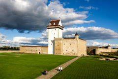 Narva castle. Estonian narva castle in summer royalty free stock images
