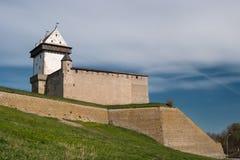 Narva, Estonia - Herman Castle on the banks of the river, opposite the Ivangorod fortress. Stock Images