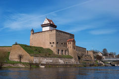 Narva, Estonia - Herman Castle View from the Narva River. Stock Images