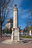 Narva, Estonia. Monument to Soviet soldiers who died in the war of 1941-1945. Royalty Free Stock Image