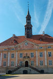 Narva, Estonia - the old town hall. Built in the style of Dutch classicism. Old town hall of Narva, Estonia. City Hall built in the style of Dutch classicism Royalty Free Stock Images