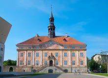 Narva Estonia sala starego miasta Zdjęcia Royalty Free