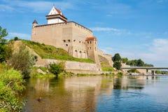 Narva forteca Estonia, UE Zdjęcie Stock