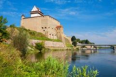 Narva fortress. Estonia, EU Royalty Free Stock Images