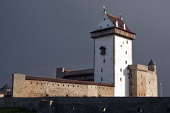 Narva Herman castle. royalty free stock photography