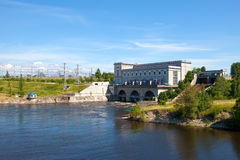Narva hydroelectric power station Royalty Free Stock Photo