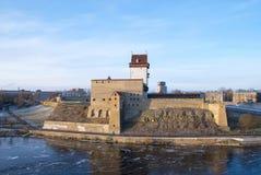 Narva l'Estonie Hermann Castle photo stock