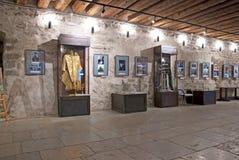 Narva l'Estonie Musée de château de Narva photo stock