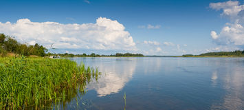 Narva river. Estonia Royalty Free Stock Image