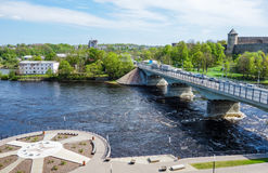 Narva river from Estonian side Royalty Free Stock Images