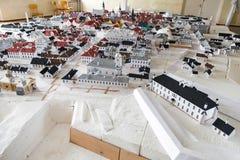 Narva-Stadtplan gemacht vom Papier Stockbild