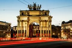Narva triomfantelijke poort bij Stachek-Weg in St. Petersburg in Stock Fotografie