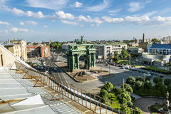 Narva triumphal arch on the Stock Photos