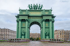 Narva Triumphal Arch in  St.Petersburg, Russia Stock Photos