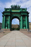 Narva Triumphal Gate Stock Images
