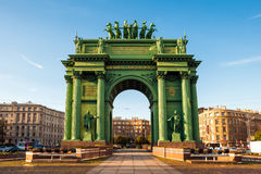 Narva Triumphal Gate, St Petersburg, Russia Stock Images