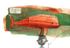 Narval da aquarela Fotografia de Stock Royalty Free