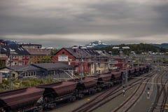 Narvik railway yard Royalty Free Stock Photos