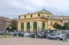 Narvskaya地铁站在圣彼得堡,俄罗斯 免版税库存图片