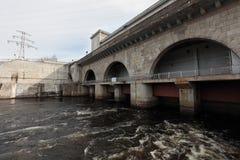 Narvskaya Hydroelektryczna elektrownia fotografia royalty free