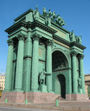 Narvskije gate. Triumphal arch Royalty Free Stock Photo