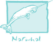 Narwhal in Blue Stock Image