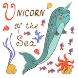 Narwhal the unicorn of the sea Stock Photo