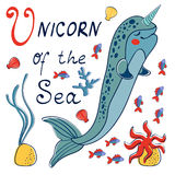 Narwhal the unicorn of the sea Stock Photos