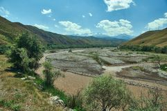 Naryn River Valley photographie stock