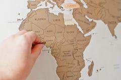 Narys podróży mapa świat Narys podróży mapa świat Fotografia Royalty Free