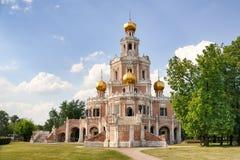 Naryshkin巴洛克式的建筑学- Churc的古典纪念碑 免版税库存照片
