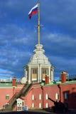 Naryshkin-Bastion von Peter und von Paul Fortress in St Petersburg Stockbild