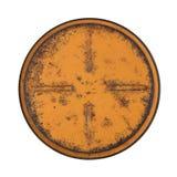 Narysu metalu round talerz na białym tle Obraz Royalty Free