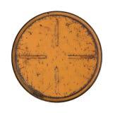 Narysu metalu round talerz na białym tle Obraz Stock
