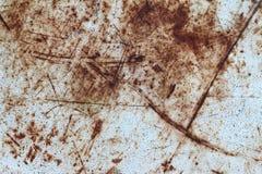 Narysy na powierzchni rdzewiejący metalu talerz Obrazy Royalty Free