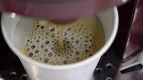 Narządzania cofee w maszynie Kawy espresso lub capuccino napój zbiory