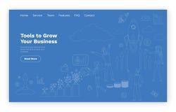 Narzędzia Rosnąć Biznesowego Online strona internetowa szablon ilustracji