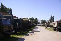 Narządzania Rosyjski militarny wyposażenie dla bojowych ćwiczeń zdjęcia stock