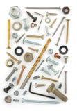 Narzędzi narzędzia na bielu Fotografia Royalty Free
