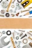 Narzędzi narzędzia na bielu Obraz Stock