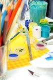 narzędzia artystów. obrazy stock