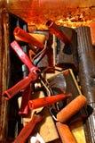 Narzędzia dla arnishing plenerowego pokład Fotografia Stock